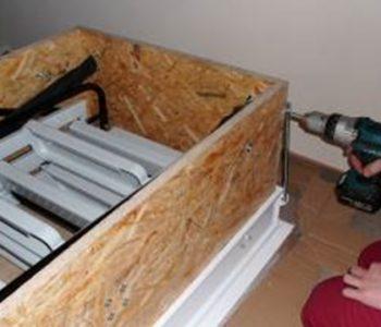 Krok za krokom ... montáž sťahovacích schodov pre pasívne domy